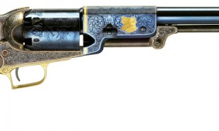 Prestige Hand Engraving in gold with eagle (E44) Charcoal Blue Finish (C00)